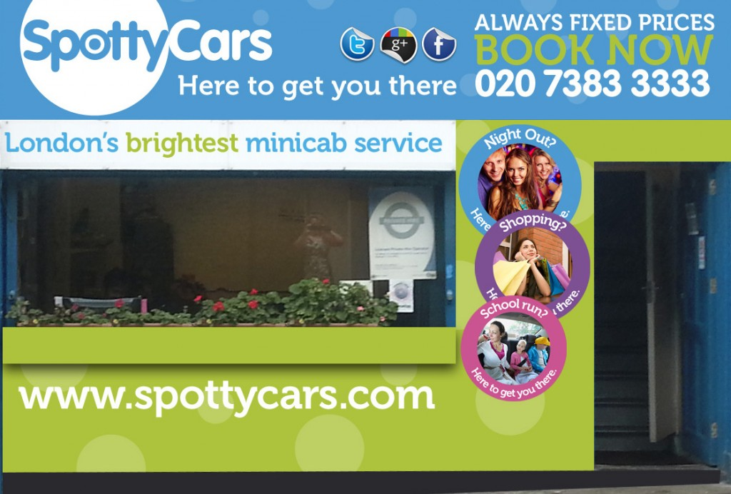 SpottyCars, The Brightest Service For Minicabs In Camden